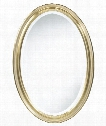 "Blake Oval 22"" Wall Mirror in Antique Gold"