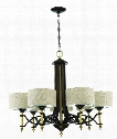 "Colonial 32"" 7 Light Chandelier in Antique Gold-Bronze"