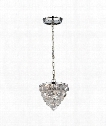 "Crystal Ice 6"" 2 Light Large Pendant in Polished Chrome"