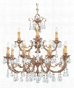 "Etta 32"" 12 Light Chandelier in Olde Brass"