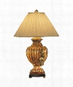 Fluted Urn 1 Light Table Lamp in Florentine