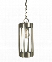 "Pantheon 5"" 1 Light Mini Pendant in Antique Brass-Matte Black"