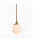 "Tybalt 9"" 1 Light Mini Pendant in Aged Brass"