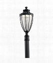 "Wakefield 11"" LED 1 Light Outdoor Outdoor Post Lamp in Textured Black"