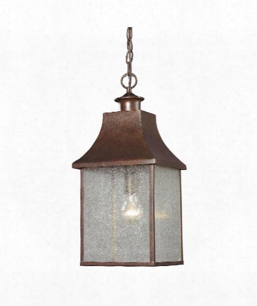 "Town Square 9"" 1 Light Outdoor Hanging Lantern In Hazelnut Bronze"