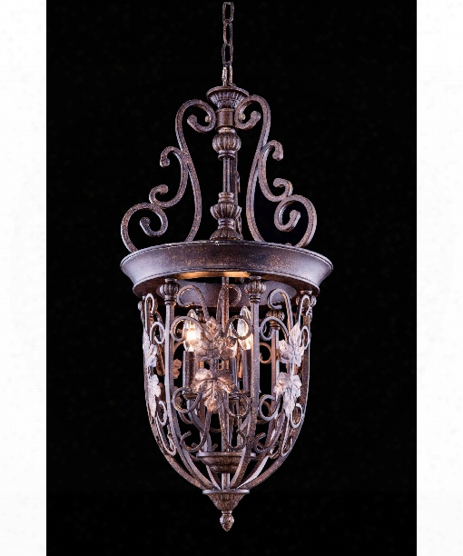 "Troy 14"" 3 Light Mini Pendant In Gilded Umber"