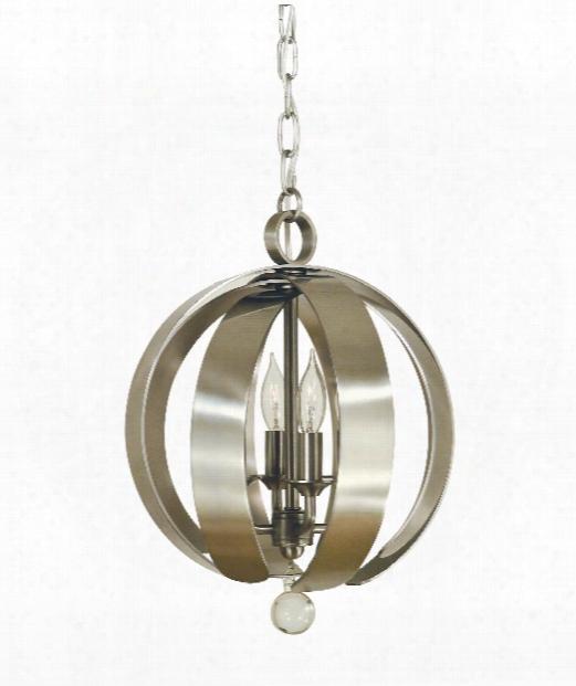 """Venus 11"""" 4 Light Mini Chandelier In Brushed Nickel"""