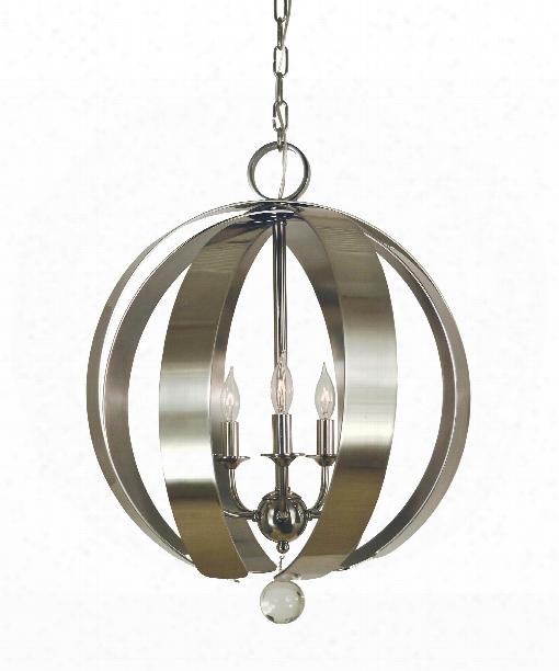 """Venus 18"""" 5 Light Mini Chandelier In Brushed Nickel"""