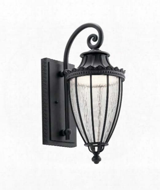 "Wakefield 9"" Led 1 Light Outdoor Outdoor Wall Light In Textured Black"