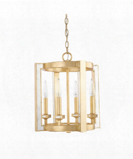 "Abella 14"" 4 Light Mini Pendant In Capital Gold"