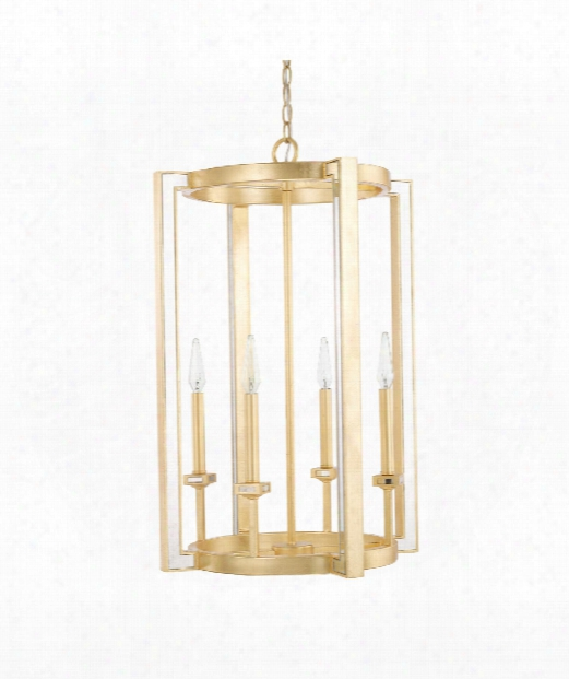 "Abella 19"" 4 Light Large Pndant In Capital Gold"