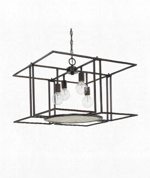 "Alston 25"" 4 Light Large Pendant In Old Bronze"