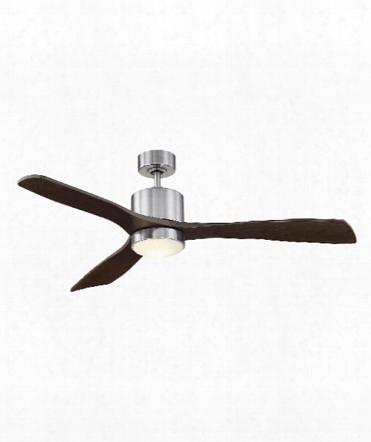 """Amher 52"""" Led 1 Light Ceiling Fan In Brushed Pewter"""