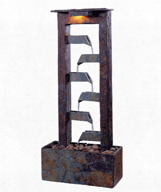 """Aqueduct 14"""" 1 Light Fountain In Natural Slate"""