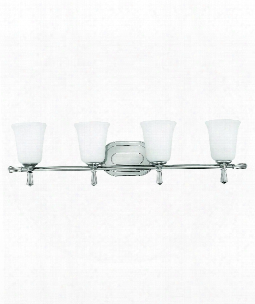 "Blythe 34"" 4 Light Bath Vanity Light In Polished Nickel"
