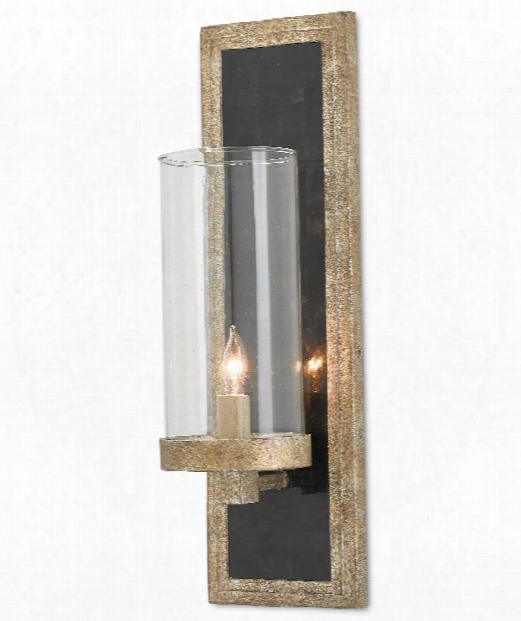 "Charade 5"" 1 Light Wall Sconce In Antique Silver Leaf"