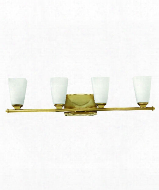 "Darby 32"" 4 Light Bath Vanity Light In Brushed Caramel"