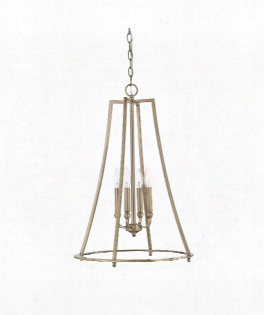 "Dawson 81"" 4 Light Large Pendant In Aged Brass"