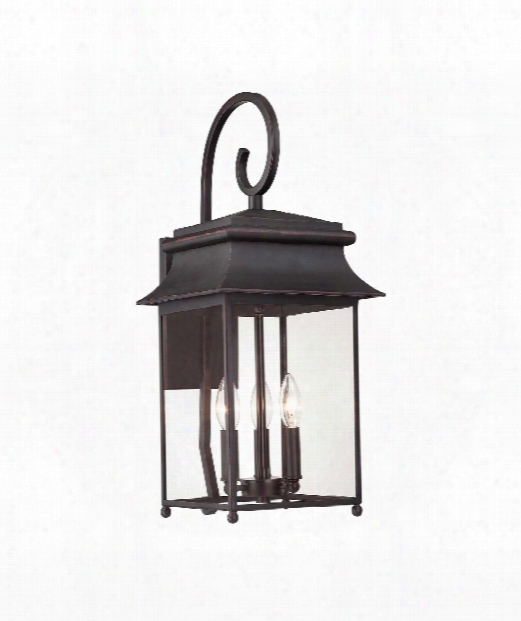 "Durham 10"" 3 Light Outdoor Outdoor Wall Light In Slate"