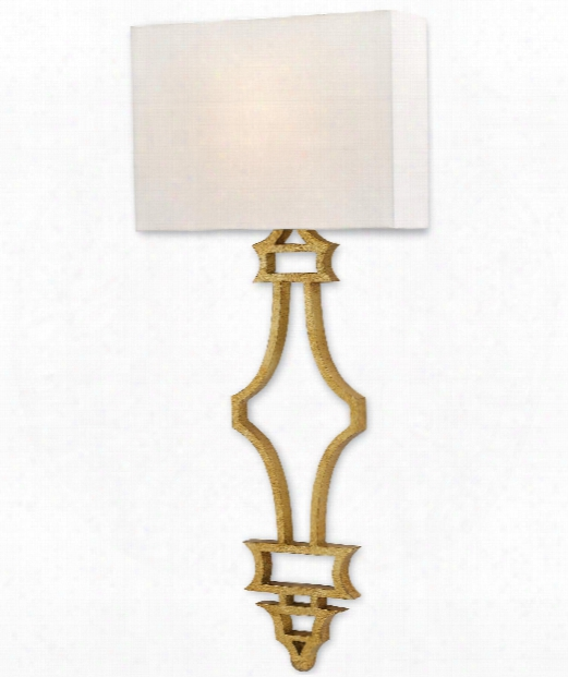 "Eternity 14"" 1 Light Wall Sconce In Antique Gold Leaf"