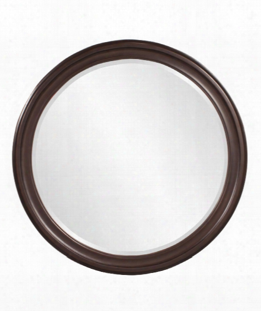 "George 36"" Wall Mirror In Wenge Brown"