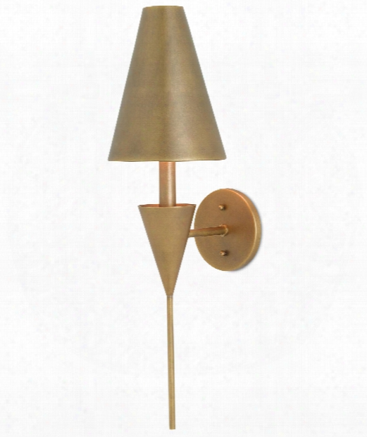 "Girault 7"" 1 Light Wall Sconce In Antique Brass"
