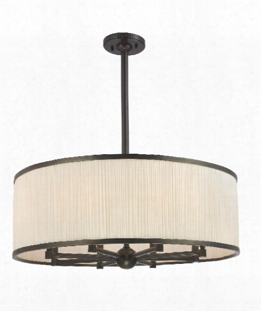 "Hastings 30"" 8 Light Large Pendant In Old Bronze"