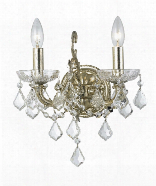 """Highland Park 13"""" 2 Light Wall Sconce In Olde Silver"""