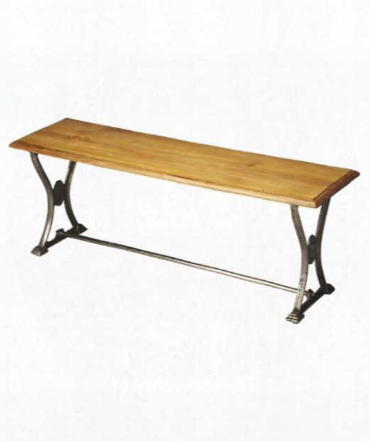 """Industrial Chic 49"""" Bench In Multi-color"""