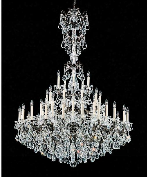 """La Scala 49"""" 45 Light Chandelier In Heirloom Bronze"""