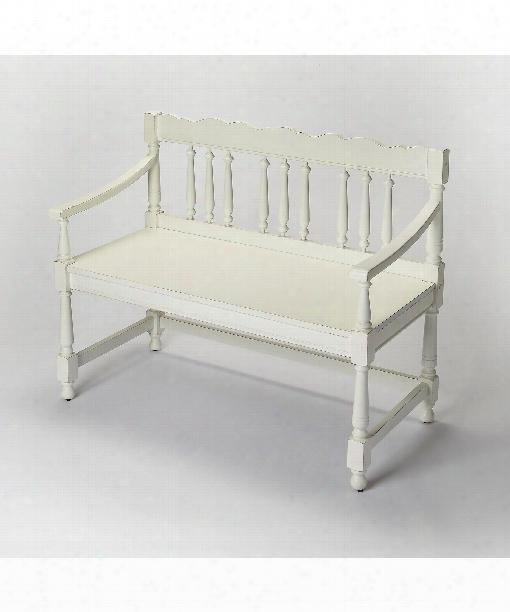 "Masterpiece 40"" Bench In Cottage White"