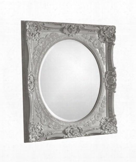 """Monique 30"""" Wall Mirror In Nickel"""