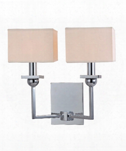 """Morris 13"""" 2 Light Wall Sconce In Polished Chrome"""