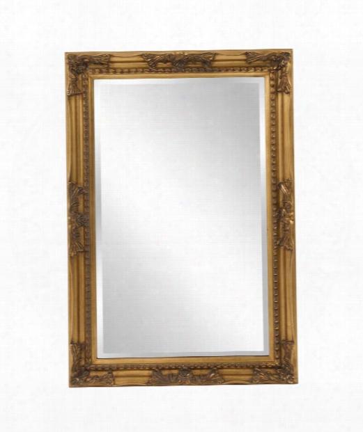 Queen Ann 24&quoot; Wall Mirror In Antique Gold