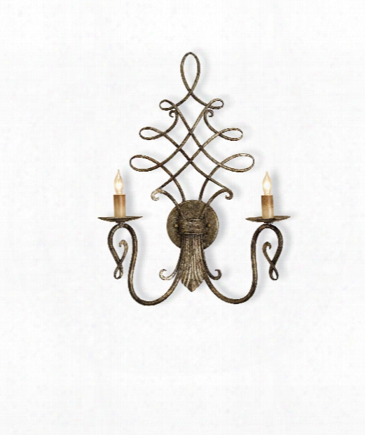 "Regiment 16"" 2 Light Wall Sconce In Antique Silver"