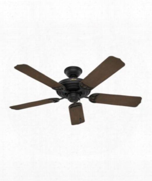 """Sea Air 52"""" Ceiling Fan In Black"""