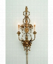"Belmonte 12"" 2 Light Wall Sconce in Gold Leaf"