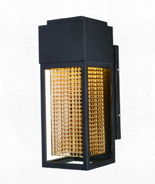 """Townhouse 5"""" Led 1 Light Outdoor Outdoor Wall Light In Galaxy Bronze - Rose Gold"""