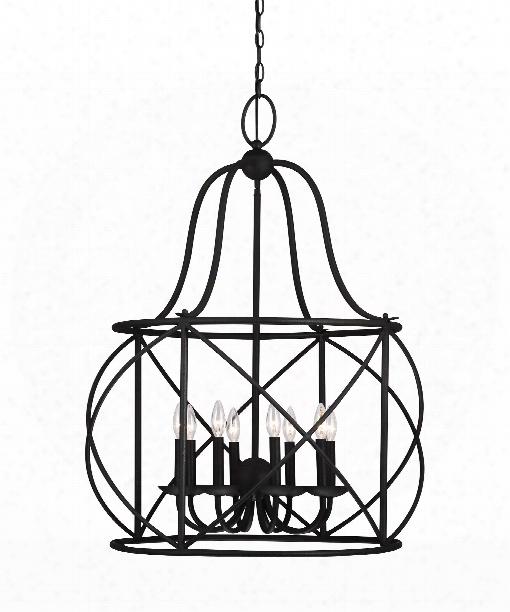 "Turbinio 30"" 8 Light Large Pendant In Blacksmith"