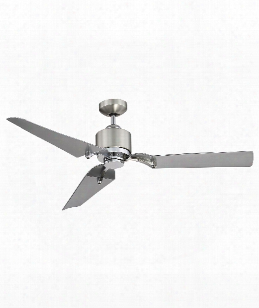 """Wasp 52"""" Led 1 Light Ceiling Fan In Satin Nickel-chrome"""