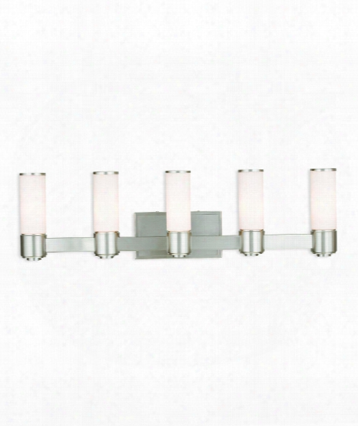 "Weston 36"" 5 Light Bath Vanity Light In Brushed Nickel"