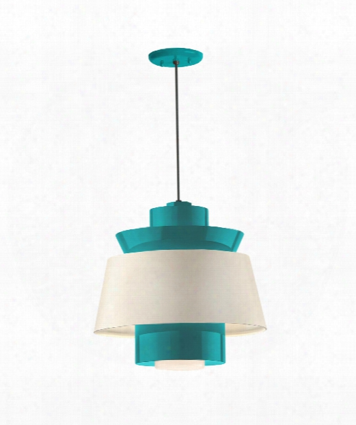 "Aero 14"" Led 1 Light Large Pendant In Tahitian Teal"