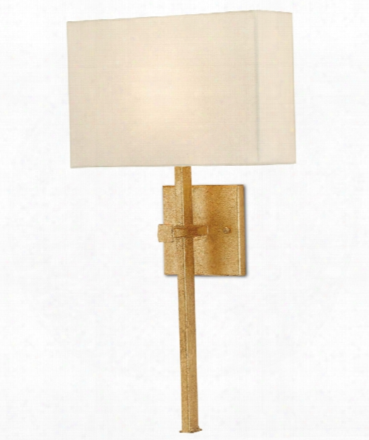 "Ashdown 12"" 1 Light Wall Sconce In Antique Gold Leaf"