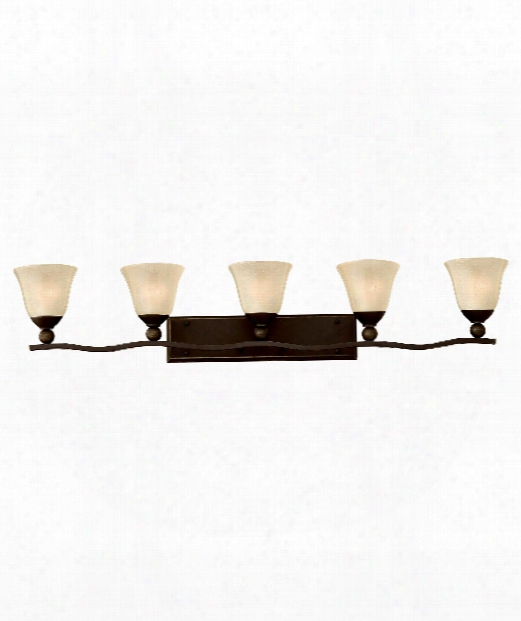 "Bolla 46"" 5 Light Bath Vanity Light In Olde Bronze"