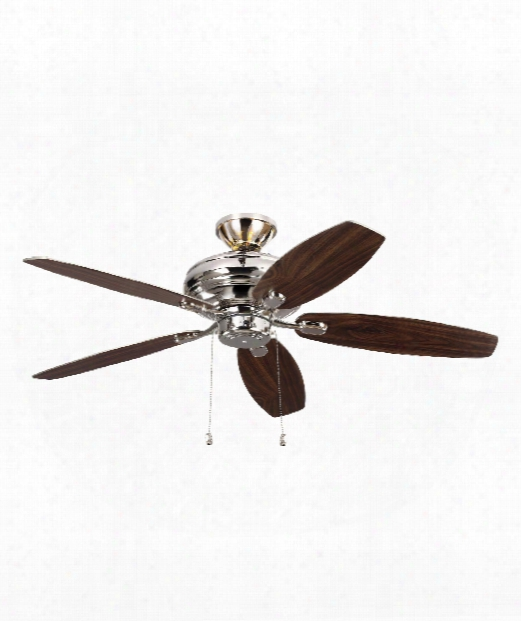 Centro Max Uplight Ceiling Fan In Polished Nickel