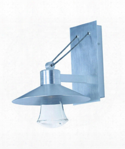 """Civic 8"""" Led 1 Light Outdoor Outdoor Wall Light In Brushed Aluminum"""