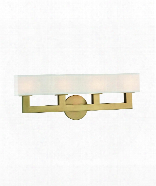 "Clarke 23"" Led 4 Light Wall Sconce In Aged Brass"