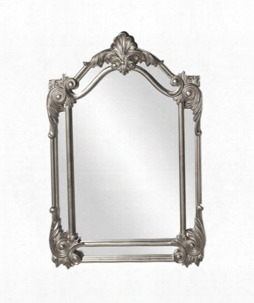 "Cortland 32"" Wall Mirror In Nickel"