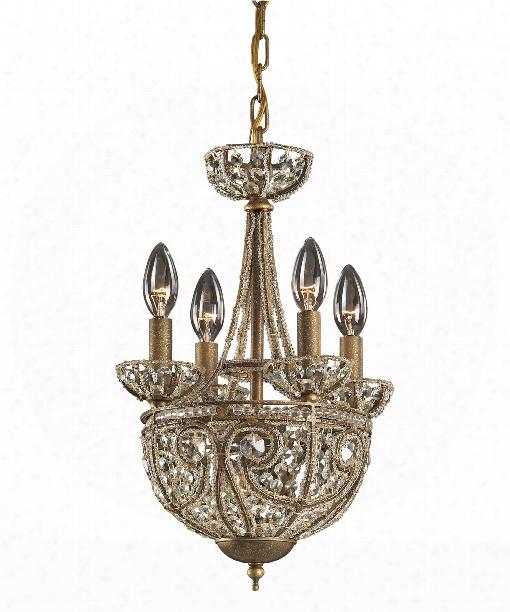 "Elizabethan 12"" 5 Light Mini Chandelier In Dark Bronze"