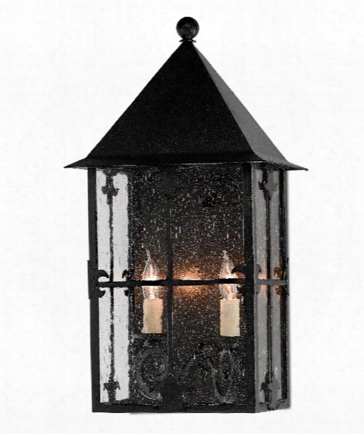 """Faracy 11"""" 2 Light Outdoor Wall Light In Midnight"""